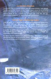 Chevaliers D'Emeraude (Les) Tome 3 - 4ème de couverture - Format classique