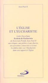 L'eglise et l'eucharistie - Intérieur - Format classique
