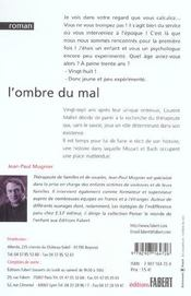 Ombre Du Mal (L') - 4ème de couverture - Format classique