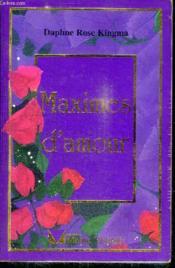 Maximes D'Amour - Couverture - Format classique