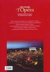 Les Stars De L'Opera. Grands Artistes Lyriques De L'Histoire De L'Opera - 4ème de couverture - Format classique