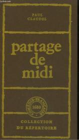 Partage De Midi. - Couverture - Format classique