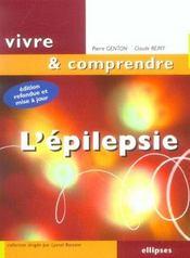 L'Epilepsie Nouvelle Edition Refondue Et Mise A Jour - Intérieur - Format classique