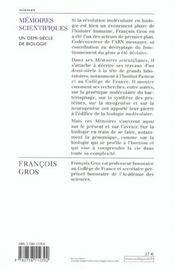 Memoires Scientifiques - 4ème de couverture - Format classique