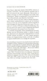 Jean Amery - 4ème de couverture - Format classique