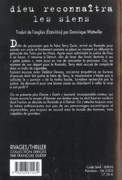 Dieu Reconnaitra Les Siens - 4ème de couverture - Format classique