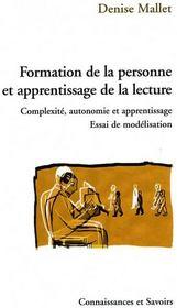 Formation de la personne et apprentissage de la lecture - Couverture - Format classique