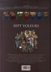 Sept voleurs ; sept aventuriers à l'assaut de la montagne des nains - 4ème de couverture - Format classique
