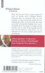 A Garonne - 4ème de couverture - Format classique