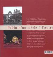 Pekin d'un siecle a l'autre - 4ème de couverture - Format classique