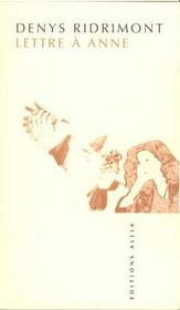 Lettre A Anne - Intérieur - Format classique