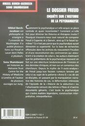 Le Dossier Freud - 4ème de couverture - Format classique