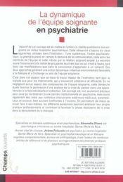 Dynamique Equipe Soignante Psychiatrie - 4ème de couverture - Format classique