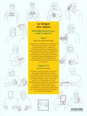 La langue des signes t.3 - 4ème de couverture - Format classique