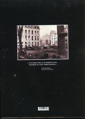 Le Paris D'Haussmann - 4ème de couverture - Format classique