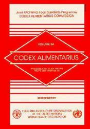 Codex alimentarius n.5a ; processed and quick frozen fruits and vegetables ; 2e edition - Couverture - Format classique