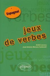 Jeux de verbes espagnol - Intérieur - Format classique