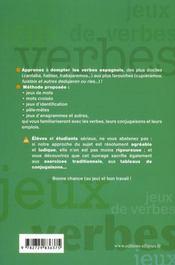 Jeux de verbes espagnol - 4ème de couverture - Format classique