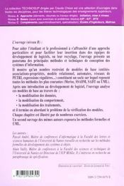 Genie Logiciel Conception Des Systemes D'Information Panorama Des Methodes Et Des Techniques - 4ème de couverture - Format classique