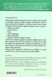 Chimie Organique Assimiler La Chimie Organique Aldehydes Cetones Acides Amines Et Composes Mixtes - 4ème de couverture - Format classique