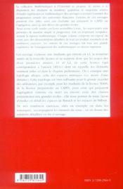 La Topologie Des Espaces Metriques Niveau L3 - 4ème de couverture - Format classique