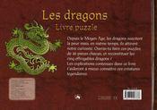 Livre puzzle/les dragons - 4ème de couverture - Format classique