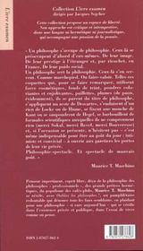 Oubliez les philosophes - 4ème de couverture - Format classique