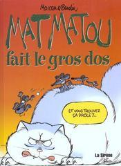 Matmatou T.4 ; Matmatou Fait Le Gros Dos - Intérieur - Format classique