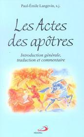 Actes des apotres - intro. gen., traduction et commentaire - Intérieur - Format classique