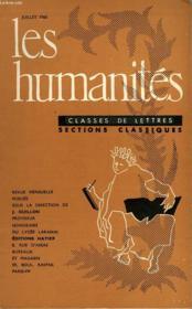 Les Humanites - Classe De Lettres - Juillet 1960 - Couverture - Format classique