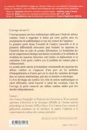 Calcul Scientifique Tenseurs Variations Et Milieux Continus Formulations Locale Et Variationnelle - 4ème de couverture - Format classique