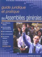 Guide Juridique Et Pratique Des Assemblees Generales - Intérieur - Format classique