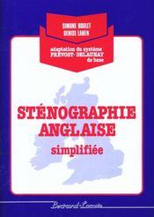 Sténographie anglaise simplifiée ; pochette de l'élève - Intérieur - Format classique