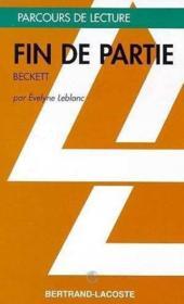 Fin de partie, de Beckett - Couverture - Format classique