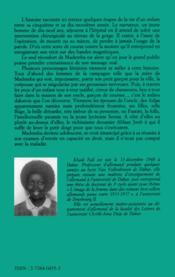 Mademba - 4ème de couverture - Format classique
