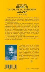 Sombloloho Djibouti ; la chute du président Ali Aref 1975-1976 - 4ème de couverture - Format classique