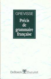 Precis De Grammaire Francaise - Intérieur - Format classique