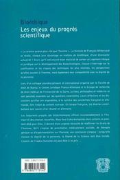 Biotheque Enjeux Du Progres Scientifique - 4ème de couverture - Format classique