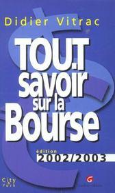 Tout Savoir Sur La Bourse 2002 - Intérieur - Format classique