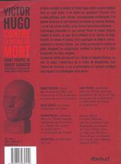 Victor Hugo Contre La Peine De Mort - 4ème de couverture - Format classique