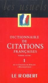 Dictionnaire de citations francaises t1 - Couverture - Format classique