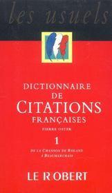 Dictionnaire de citations francaises t1 - Intérieur - Format classique
