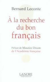 À la recherche du bon français - Intérieur - Format classique