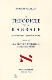 Theodicee de la kabbale - Couverture - Format classique