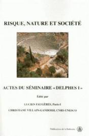 Risque, nature et société ; actes du séminaire