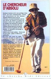 Le Chercheur D'Absolu - 4ème de couverture - Format classique