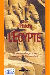 Memento D'Histoire De L'Egypte : Chronologie Des Pharaons Et Dynasties De L'Histoire Moderne - Intérieur - Format classique