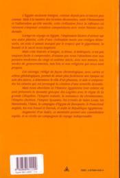 Memento D'Histoire De L'Egypte : Chronologie Des Pharaons Et Dynasties De L'Histoire Moderne - 4ème de couverture - Format classique