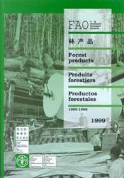 Yerbook of forest products 1999 ; multilangual - Couverture - Format classique