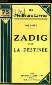 Zadig Ou La Destinee - Couverture - Format classique